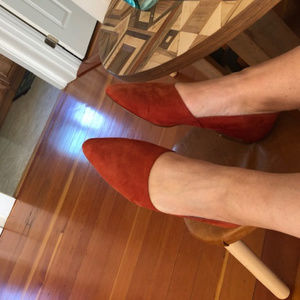 Madewell The Lizbeth Flat in Suede Size 9.5